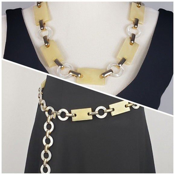 45072079f3a Yves Saint Laurent Accessories | Vintage Ysl Lucite Belt Necklace ...